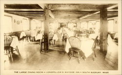 Longfellow's Wayside Inn - The Large Dining Room Postcard