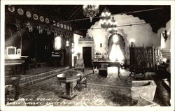 The Music Room, Death Valley Scottys Castle Postcard