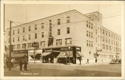 Hotel and Storefronts in Downtown Sudbury Postcard