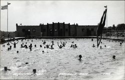 Municipal Pool Postcard
