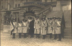 Some of the Guards of Belgium's First Troop - 1929