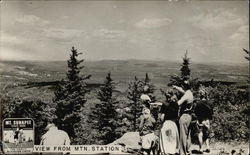 View from Mountain Station, Mt. Sunappe State Park Postcard