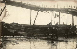 The Wrecked Pier Postcard