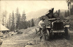 Man Alongside Logging Vehicle