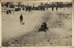 """Tobogganing"" on the Cliffs Postcard"