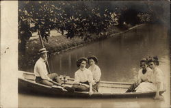 Four Women and a Man in a Rowboat