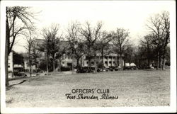 View of Officers' Club Postcard