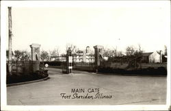View of Main Gate Postcard