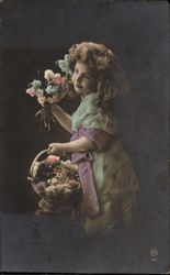 Portrait of Young Girl ith Flowers