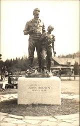 Statue of John Brown and Slave, North Elba