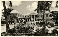 Post Office, Secretariat and Legislative Halls Postcard