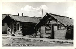 Log Dwellings Postcard