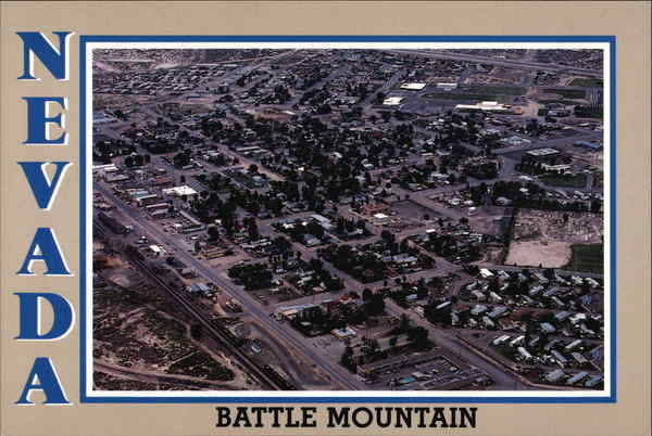 Aerial View of Battle Mountain Nevada