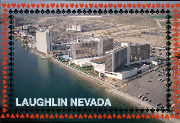 Aerial View of Hotels Laughlin Nevada
