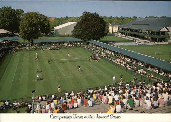 Championship Tennis at the Newport Casino Rhode Island