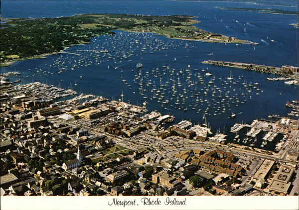 Aerial View of Waterfront and Harbor Newport Rhode Island