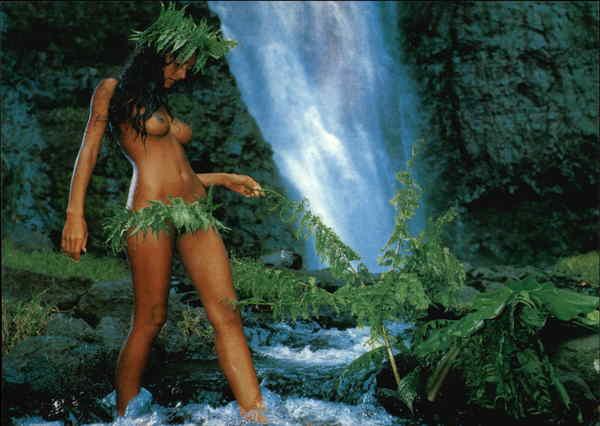 Naked dark skinned black woman-4033