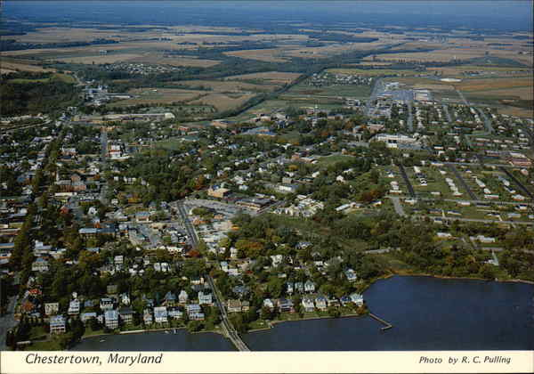Aerial View of Town Chestertown Maryland