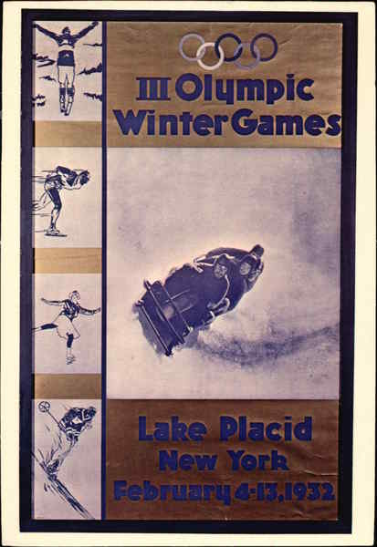 III Olympic Winter Games Lake Placid New York Olympics