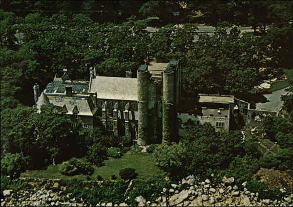 Aerial View of Hammond Castle Gloucester Massachusetts