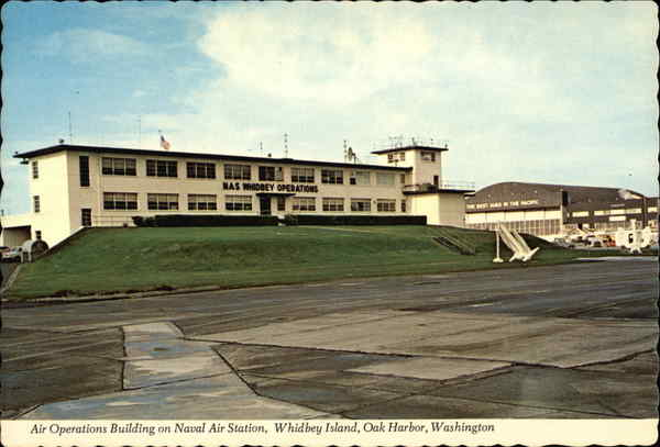 Air Operations Building on Naval Air Station at Whidbey Island Oak Harbor Washington