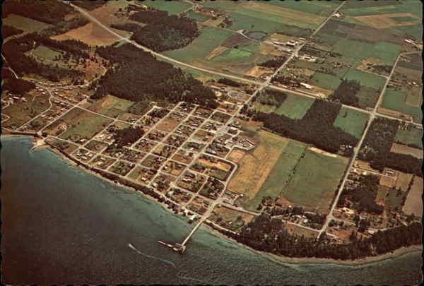 Aerial View of Town Coupeville Washington