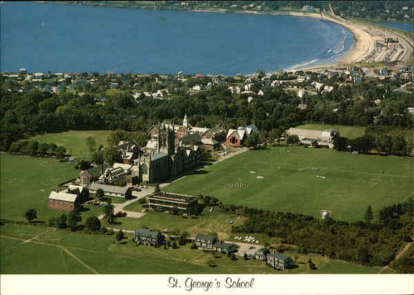 Aerial View of St. George's School Middletown Rhode Island