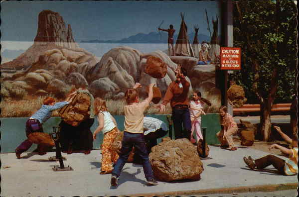 Universal Studios Movie Magic ... Boulders Made of Foam Rubber
