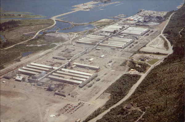 Aerial View of Alcan Smelters and Chemicals Kitimat Canada