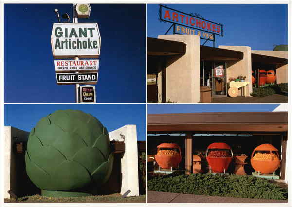The Giant Artichoke Restaurant Castroville California