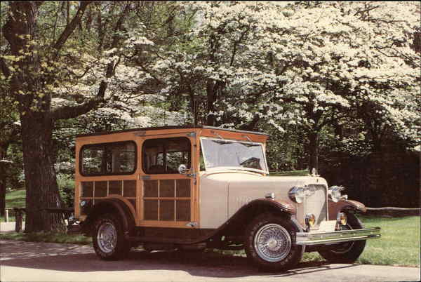Replica of a 1928 Woody Cars