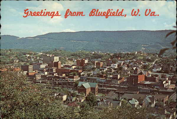 Greetings from Bluefield, West Virginia