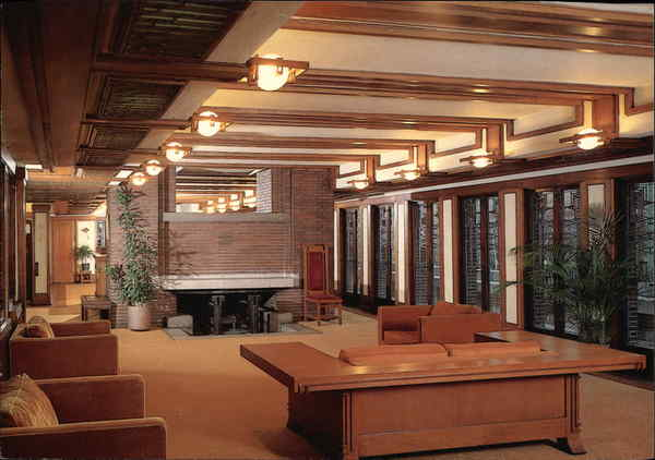living room frederick c robie house chicago il