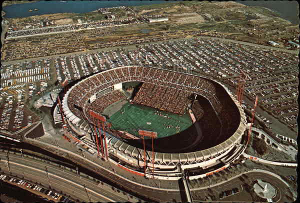 Aerial View of Candlestick Park San Francisco California