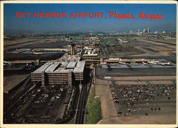 Aerial View Of Sky Harbor Airport Phoenix Az