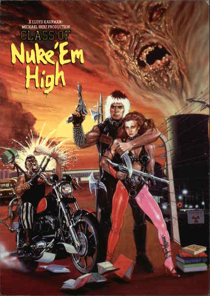Class of Nuke 'Em High Movie and Television Advertising