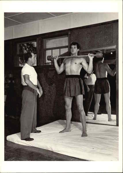 Rock Hudson Lifting Weights 1952 Sid Avery Actors