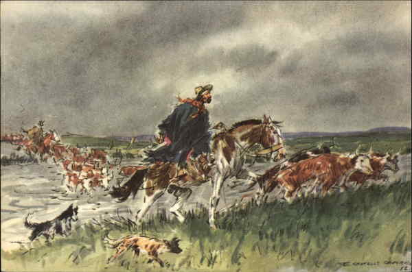 Pentothal Sodium Ad - Crossing the Brook - Gauchos and Cattle Uruguay