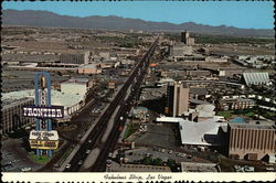 Aerial View of the Fabulous Strip Postcard