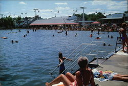 Indiana Beach, Lake Shafer - Beach Scene from Steel Pier