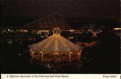 A Nightime Spectacle of the Carrousel and Twin Racers