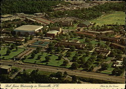 Aerial View of Campus, Bob Jones University Postcard