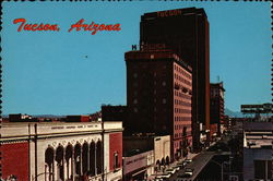 Looking South - Stone Avenue, Downtown Postcard