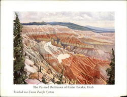 The Painted Buttresses of Cedar Breaks, Utah - Reached Via Union Pacific System