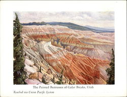 The Painted Buttresses of Cedar Breaks, Utah, Reached Via Union Pacific System