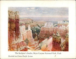 The Sculptor's Studio - Reached via Union Pacific System Postcard