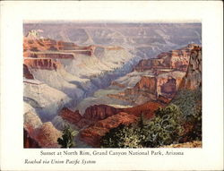 Sunset at North Rim Union Pacific Bryce Canyon Lodge Menu