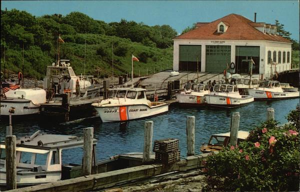 Boat House and Pier at Coastguard Cove Newport Rhode Island