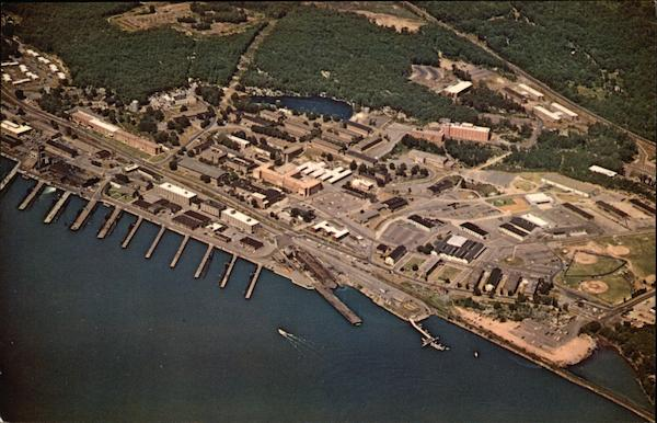 Aerial View, U.S. Naval Submarine Base, New London Groton Connecticut