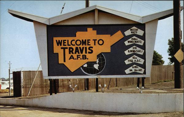 Welcome to Travis A.F.B California